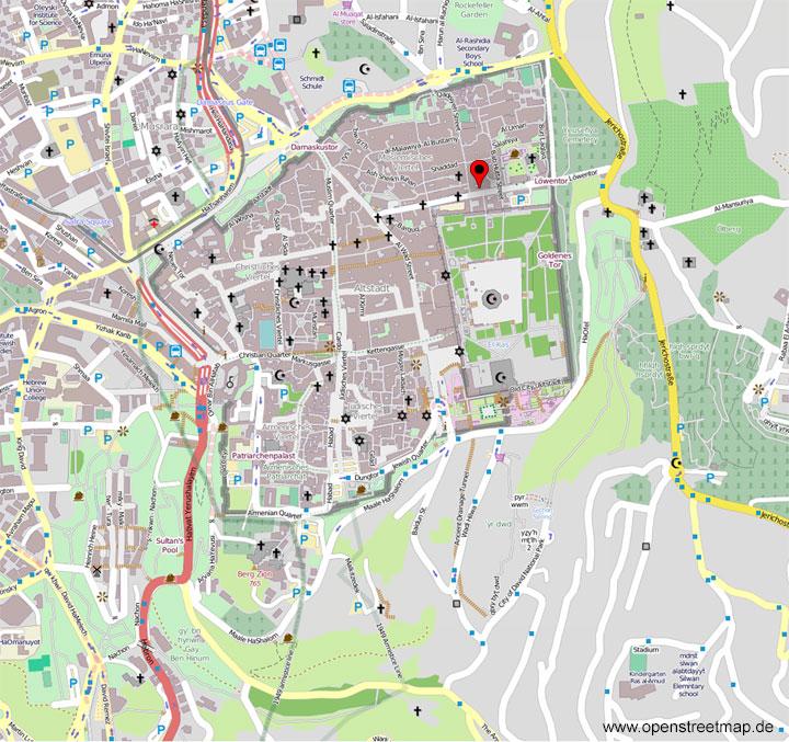 Jerusalem Karte Heute.Orte In Der Bibel Jerusalem Gefangnis Jesu